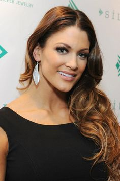Eve Torres (WWE Diva) wearing Silpada's engraved sterling silver 'Freestyle Earrings.' Silpada Designs 2012 Academy Awards Style Suite.
