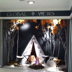 Chic camp scene in our High Point showroom #hpmkt Global Views