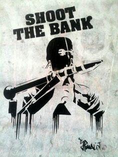 Barcelona. Born. Street art. Shoot the bank. Maudéa