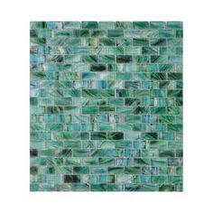 American Olean Visionaire Peaceful Sea Glass Mosaic Subway Indoor/Outdoor Wall Tile (Common: 13-in x 13-in; Actual: 12.87-in x 12.87-in)