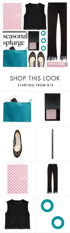 """""""rich & fab"""" by foundlostme ❤ liked on Polyvore featuring Mark & Graham, Surratt, Jimmy Choo, MAC Cosmetics, Ladurée, 3x1, Needle & Thread, Marc by Marc Jacobs, Christian Dior and splurgegifts"""