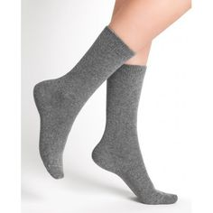Wool-blend socks in ribbed heathered finish cashmere Machine wash Made in France. Liner Socks, Crew Socks, Hosiery, Wool Blend, Clothes For Women, Classic, Color, Women's Clothing, France