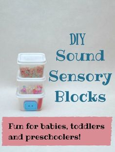 Super-easy DIY sensory blocks - a great fine motor sensory toy for babies and toddlers!: Super-easy DIY sensory blocks - a great fine motor sensory toy for babies and toddlers!