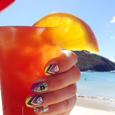 Rum and punch at Riu Palace St Martin - All Inclusive drinks - coctails - nailart