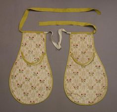 1700 era pockets. These pockets were tied at the waist and worn under the formal garment. There were slits in the actual skirt allowing the wearer to reach their pockets.