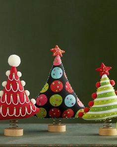 Festive Standing Trees - contemporary - holiday decorations -