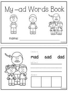 CVC Word Sorts (NO PREP) | Word work, Word sorts and Words
