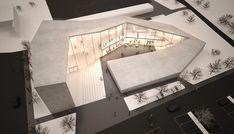 """Il nuovo progetto per la palestra per l'arrampicata sportiva di Brunico si configura come """"formazione"""" architettonica composta da diversi segmenti di volumi che variano sia nell'altezza sia nella p..."""
