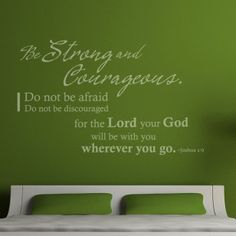 Joshua 1:9 Christian Wall Decal, Decor | Be strong and courageous…