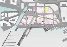 Bilderesultat for byplan aker brygge Site Plan Rendering, Space Group, Central Business District, Shopping Street, National Theatre, Building Structure, Senior Living, Lobbies, School Projects