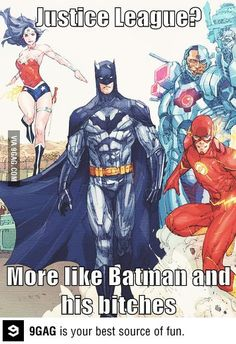 Hahaha! I always sort of thought of it like that too. But I do love me some Wonder Woman (new 52) and Aquaman (new 52).