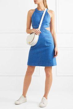 Stella McCartney - Cutout Stretch-denim Dress - Mid denim - IT