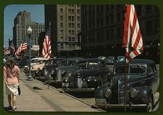 https://flic.kr/p/4juLDK | Lincoln, Nebraska  (LOC) | Vachon, John,, 1914-1975,, photographer.  Lincoln, Nebraska  [1942]  1 slide : color.  Notes:  Date based on year on car license plate. Title from FSA or OWI agency caption. Transfer from U.S. Office of War Information, 1944.  Subjects:  Automobiles Streets United States--Nebraska--Lincoln   Format:  Slides--Color  Rights Info:  No known restrictions on publication.  Repository:  Library of Congress, Prints and Photographs Division…