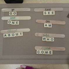 sight word literacy center for kindergarten students