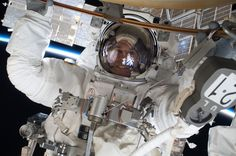 NASA astronaut Rick Mastracchio, STS-131 mission specialist, participates in the mission's first session of extravehicular activity (EVA).