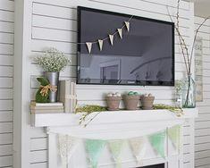Spring decorating ideas mantel decor