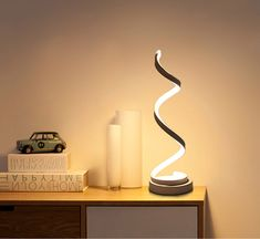 This is more like a fancy piece of decor than an actual lamp! 32 Products To Help Light Up Your Life In These Dark And Stormy Times Art Deco Table Lamps, Table Lamps For Bedroom, Bedside Table Lamps, Table Led, Bed Table, Led Wall Lamp, Led Desk Lamp, Modern Desk, Modern Table