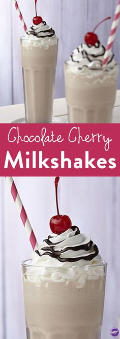 How to Make Chocolate Cherry Milkshakes - Delicious sweet treats don't always come from the oven. Make your own decadent chocolate cherry milkshake. The rich flavor comes from melted Limited Edition Cherry Cordial Candy Melts candy. Try this recipe out on a hot summer day for a nice way to cool off!