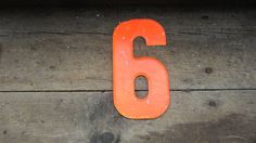 Vintage Metal Chippy Number 6 or 9 Rusted by TheOldTimeJunkShop, $15.00