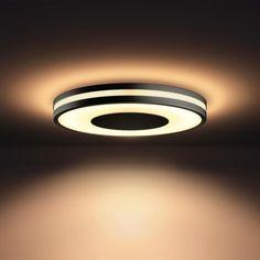 Philips Hue Being plafondlamp zwart (White Ambiance, incl DIM switch) Ceiling Light Design, Lighting Design, Smart Lights, Philips Hue, Wall Lights, Ceiling Lights, Led Licht, Dim Lighting, Outdoor Pergola