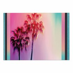 KESS InHouse Nina May 'LA Rainbow' Pink Blue Dog Place Mat, 13' x 18' >>> Don't get left behind, see this great dog product : Dog food container