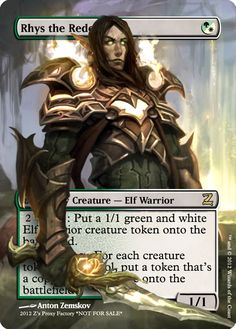 Magic The Gathering Rhys the Redeemed Proxy