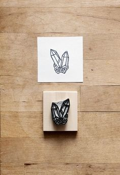 Raw Quartz No. 9 Hand Carved Rubber Stamp Crystal by extase
