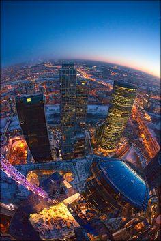 Москва Сити поздним вечером (airpano.ru)