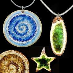 Paloma Pottery.  Handmade eco jewelry and other products made from melted recycled glass bottles.  Beautiful!