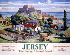 Adrian Allinson 1890-1959 Railway Poster: Jersey