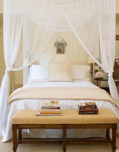 beautiful bed, great lighting detail