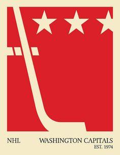 washington capitals minimalist poster