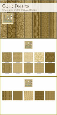 15 Gold Deluxe Fabric Textures. Photoshop Textures