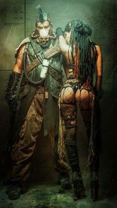 Super Apocalypse Art People Mad Max Ideas - My list of the most beautiful artworks Sci Fi Kunst, Comic Kunst, Comic Art, Fantasy Warrior, Fantasy Girl, Dark Fantasy, Arte Cyberpunk, Cyberpunk Tattoo, Cyberpunk 2077