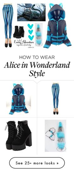 """""""Cheshire Cat"""" by ghosthearteddanger on Polyvore featuring Blue, cat, cheshire and chesshirecat"""