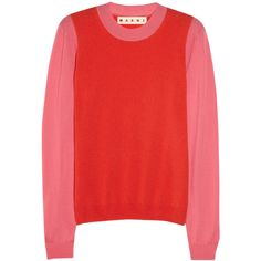 Marni Two-tone cashmere sweater ($700) via Polyvore