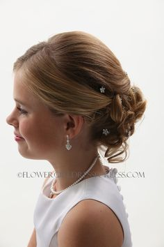 Flower girl hair...