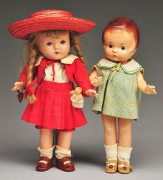 2: Effanbee Patsy Composition Dolls.