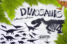 Dinosaurs silhouettes collection By Gluiki