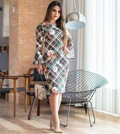 Lovely Dresses, Modest Dresses, Short Dresses, Dresses For Work, Curvy Women Fashion, Modest Fashion, Chic Outfits, Fashion Outfits, Dress Suits