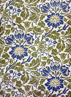 Flowering Scroll wallpaper, by William Morris. John Henry Dearle