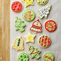 Best Holiday memories of decorating Christmas sugar cookies with my sister and my Mom.