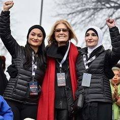 """""""Don't try to divide us. Do not try to divide us."""" - Gloria Steinem (with Carmen Perez and Linda Sarsour) at the #WomensMarch.  #womensmarchonwashington  via ELLE USA MAGAZINE OFFICIAL INSTAGRAM - Fashion Campaigns  Haute Couture  Advertising  Editorial Photography  Magazine Cover Designs  Supermodels  Runway Models"""