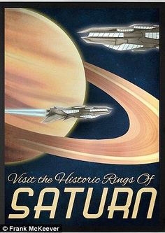 Visit the historic rings of Saturn poster, by Frank McKeever
