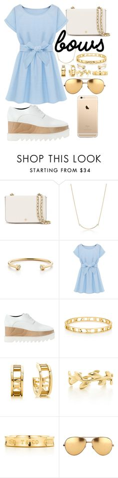 """Gold white and blue"" by brookemuir ❤ liked on Polyvore featuring Tory Burch, Tiffany & Co., STELLA McCARTNEY, Paloma Picasso and Linda Farrow"
