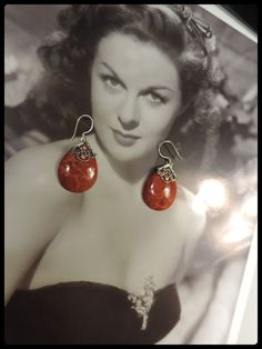 HANDMADE NATURAL RED CORAL GEMSTONE 100% SOLID 925 SILVER EARRINGS . See it now buy It now.