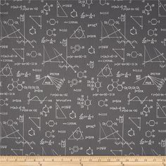 Science Fair Formulas Grey from @fabricdotcom  Designed by Rani Child for Robert Kaufman, this cotton print fabric is perfect for quilting, apparel and home decor accents. Colors include white and grey.