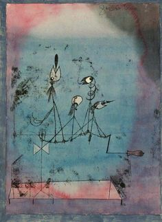 Paul Klee, The twittering machine on ArtStack #paul-klee #art