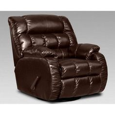 Chelsea Home Payton Leather Swivel Rocker Recliner - Taos Mahogany/$579.99