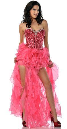 High-Low Corset Style Prom Dress. High-Low Prom Dresses @ DressDress.net